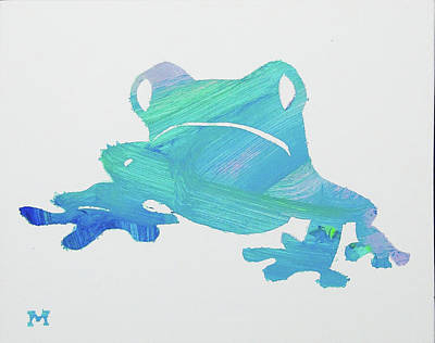 Poster featuring the painting Froggie Friend by Candace Shrope