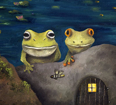 Frogland Detail Poster by Leah Saulnier The Painting Maniac