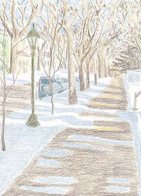 Frogtown In Winter Poster by Bethany Lee