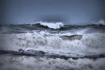 Poster featuring the photograph Frolicsome Waves by Jeff Swan