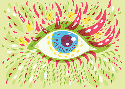 From Looking Psychedelic Eye Poster