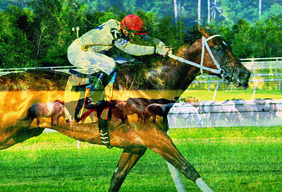 Poster featuring the photograph From Pasture To Winners Circle by David Lee Thompson