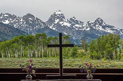 From The Chapel Of The Transfiguration In The The Grand Tetons Poster