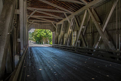From The Inside Looking Out - Shimanek Bridge Poster