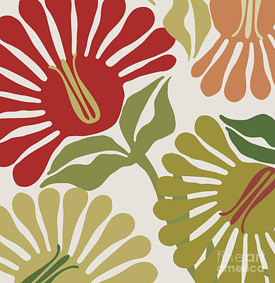 Frond Flowers Poster by Mindy Sommers
