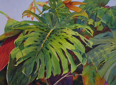 Fronds And Foliage Poster by Judy Mercer