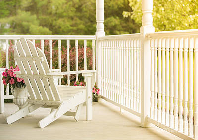 Front Porch In Summer Poster by Diane Diederich