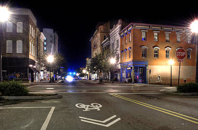 Front Street In Wilmington North Carolina Poster