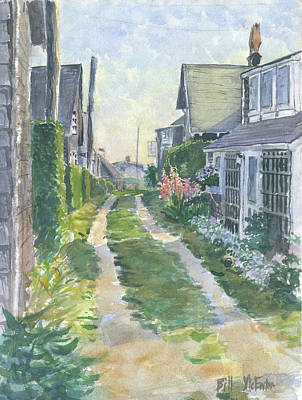 Front Street Siasconset Nantucket Poster by Bill McEntee