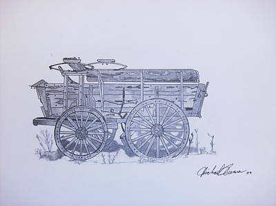 Frontier Wagon Poster