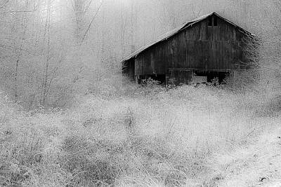 Poster featuring the photograph Frosted Barn by Rick Hartigan