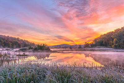 Frosted Dawn At The Wetlands Poster