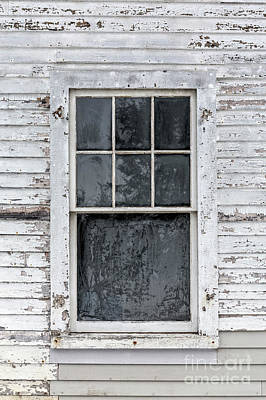 Frosted Window On An Old House Poster by Edward Fielding