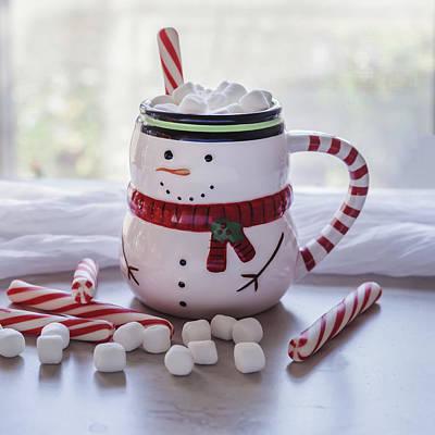 Poster featuring the photograph Frosty Christmas Mug by Kim Hojnacki