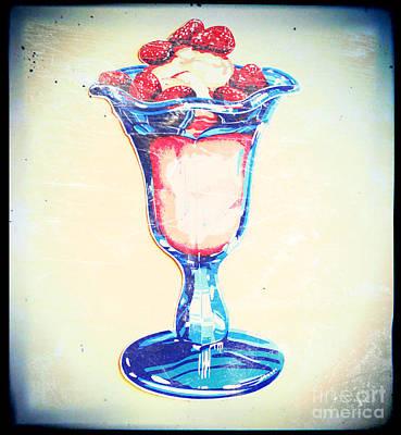 Frosty Vintage Strawberry Parfait Poster
