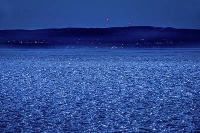 Frozen Bay At Night Poster by Onyonet  Photo Studios
