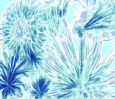 Frozen Blue Ice Poster by Methune Hively