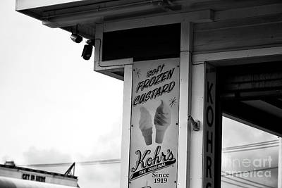 Frozen Custard Infrared Poster by John Rizzuto