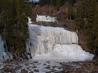 Poster featuring the photograph Frozen Falls by Ron Read