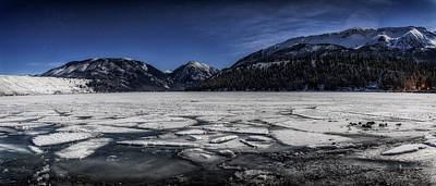 Frozen Wallowa Lake Poster by Cat Connor