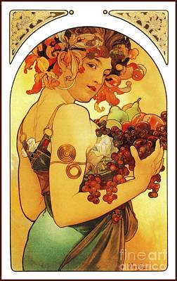 Fruit By Alfons Mucha Poster by Heidi De Leeuw