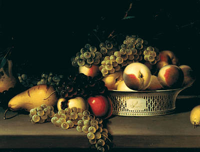Fruit In A Chinese Export Basket Poster by James Peale