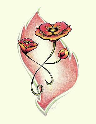 Vibrant Flower 1 Poppy Poster