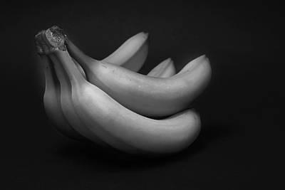 Fruit Still Life - Bananas Poster by Donald Erickson