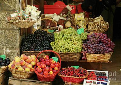 Fruit Vendor Sienna Poster by Georgia Sheron