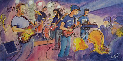 Poster featuring the painting Fruition At The Barkley Ballroom by David Sockrider