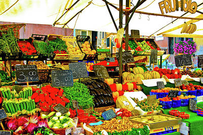 Poster featuring the photograph Fruttolo Italian Vegetable Stand by Harry Spitz