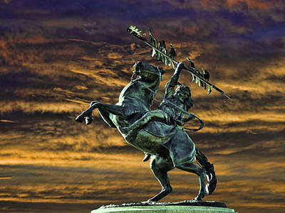 Fsu's Unconquered Renegade And Osceola Poster by Frank Feliciano