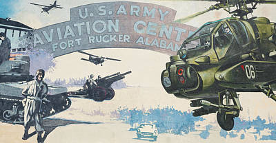 Ft. Rucker, Alabama Mural In Dothan, Alabama Poster by Jeremy Raines