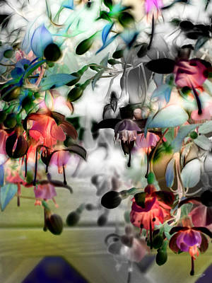Fuchsia Abstract Poster by Stuart Turnbull