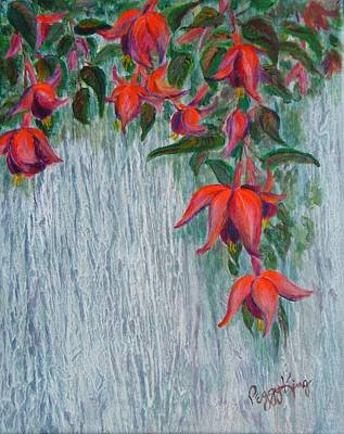 Fuchsia On The Fence Poster