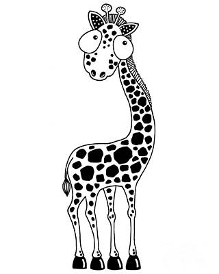 Fudge The Giraffe Poster by Lucia Stewart