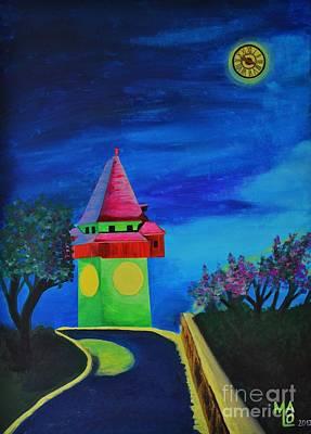 Full Moon Above Graz Poster
