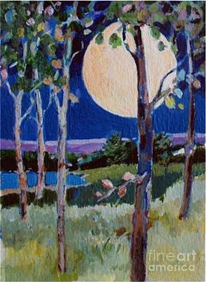 Poster featuring the painting Full Moon by Diane Ursin