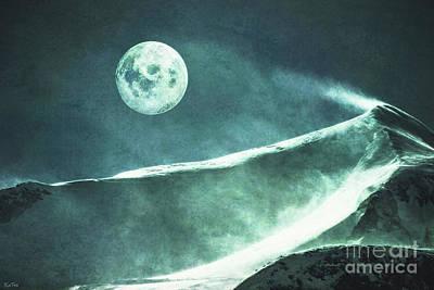 Full Moon Flurry Poster by KaFra Art