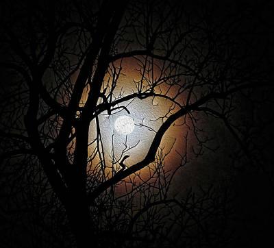 Full Moon Oil Painting Poster
