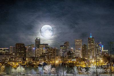 Full Moon Over Denver Poster