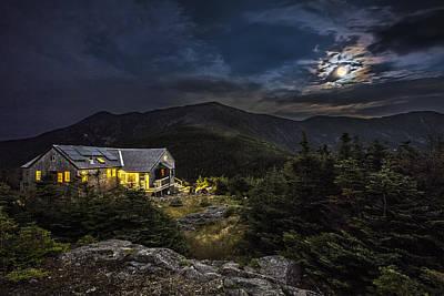 Full Moon Over Greenleaf Hut Poster