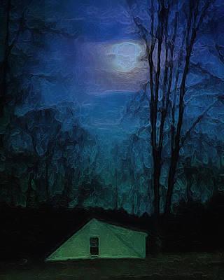 Full Moon Rising Over Cider Hill Poster