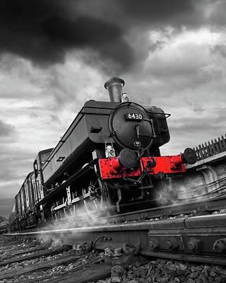 Full Steam Ahead - 6430 Pannier Train Poster by Gill Billington