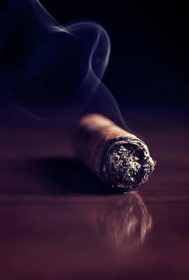 Fuming Havana Cigar 2 Poster by Vadim Goodwill