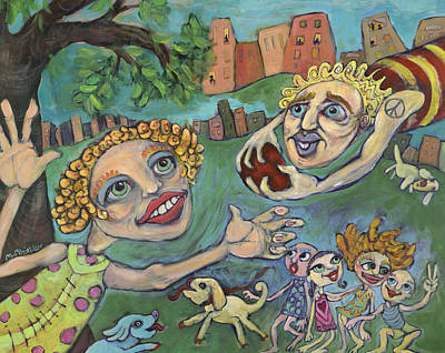 Poster featuring the painting Fun At The Park by Michelle Spiziri