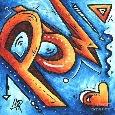 Fun Funky Contemporary Pop Art Pow Hearts And More By Madart Poster by Megan Duncanson