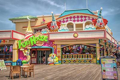 Poster featuring the photograph Fun House On The Point Pleasant Boardwalk by Kristia Adams