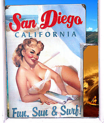 Fun Sun And Surf Poster by Ron Regalado