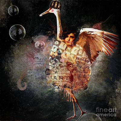 Funky Bird ... Figaro Poster by Monique Hierck